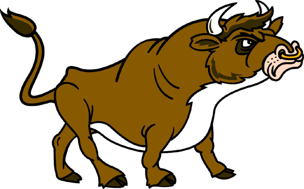 Bull mascot sports sticker. Make it personal!